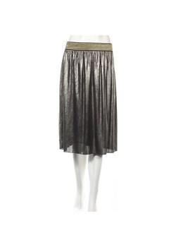 Reserved Metaliczna plisowana spódnica Srebrny bialy w Domodi