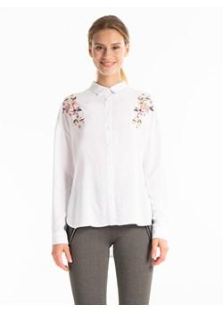 Stylowa Biała Koszula Body z Długim Rękawem molly pl bezowy