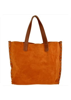 Shopper bag Real Leather z zamszu elegancka skórzana