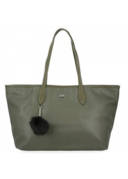 Shopper bag David Jones z breloczkiem matowa