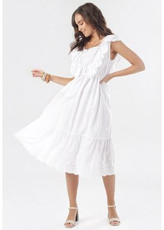 Sukienka Na Slub Cywilny Bez Rekawow Koronkowa W Domodi