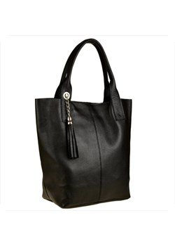 Shopper bag Real Leather czarna duża