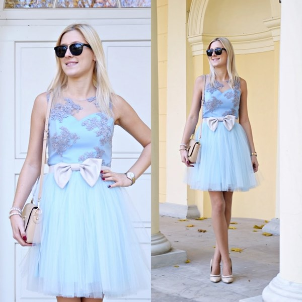 Princess in baby blue dress
