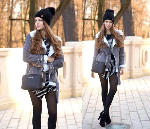 17b4b8c7c840 Zimowy must have  ciepły kożuch - Trendy w modzie w Domodi