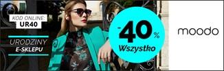 40% zniżki na 5. urodziny sklepu Moodo! Zobacz, co warto teraz kupić!
