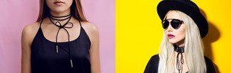 Choker na szyję - sprawdź 8 sposób, jak modnie zawiązać naszyjnik!