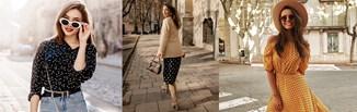 Grochy - jak nosić najmodniejszy wzór sezonu? Stylizacje dla kobiet w każdym wieku