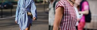 Hot trend 2021: sukienki w kratkę vichy. Inspiracje z wybiegów, które znajdziesz w sieciówkach