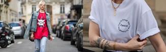 Hot trend na lato 2021: t-shirty z minimalistycznymi napisami. Dowiedz się, jak je nosić!