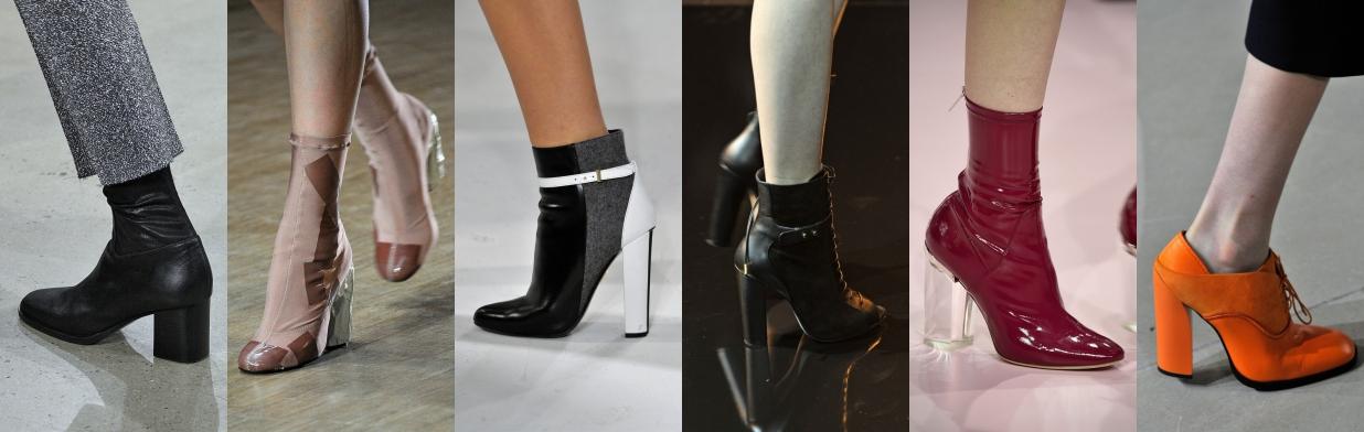 494e320269ae Inspiracje z wybiegów  botki na słupku - Trendy w modzie w Domodi