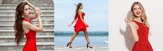 Jakie dobrać dodatki do czerwonej sukienki?