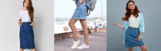 Jeansowa spódnica wciąż jest hitem. Sprawdź, jak nosić denimową spódnicę w stylizacjach!