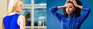 Kolor chabrowy w stylizacjach. Jak nosić modny odcień niebieskiego? Z czym łączyć chabrowy? Sprawdź!