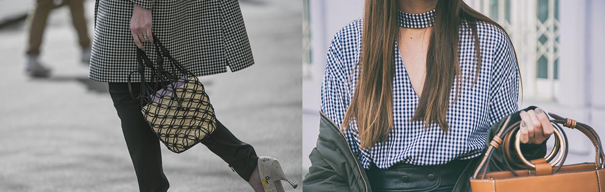Kratka vichy w modnych stylizacjach. Sprawdź, jak nosić kultową francuską kratkę gingham na co dzień
