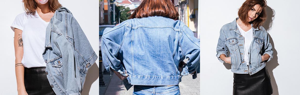 outfit z kurtka jeansowa z kapturem