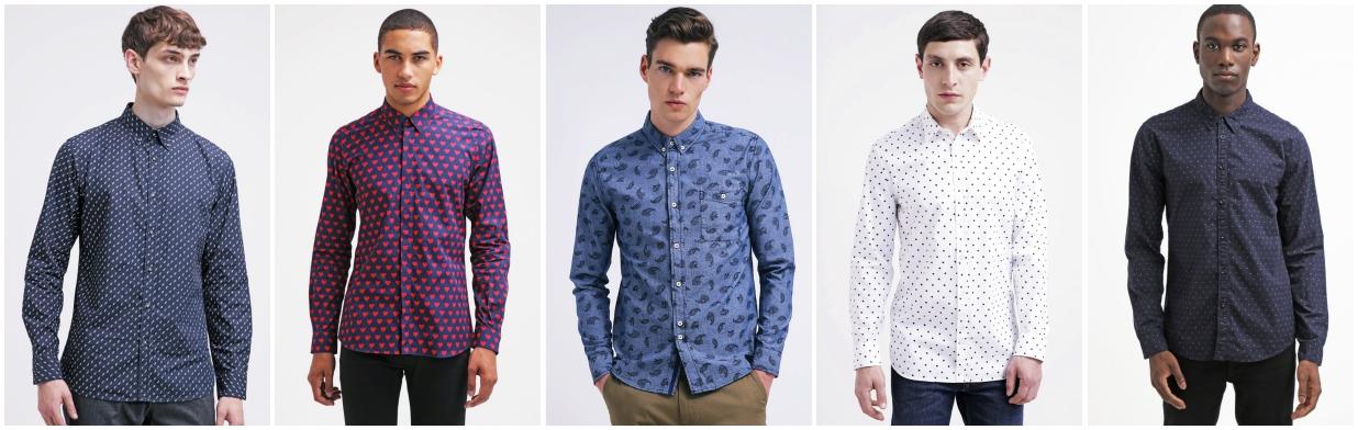 Męskie koszule we wzory