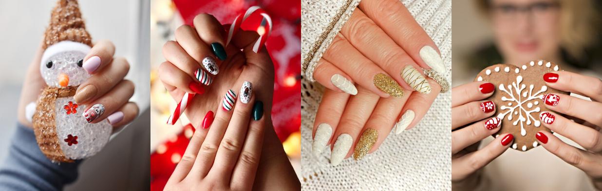 Modne paznokcie na zimę 2019/20 - wzory świąteczne i wiele innych