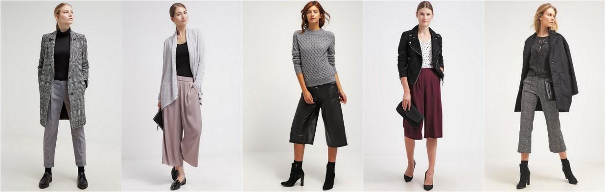 Szerokie spodnie na jesień
