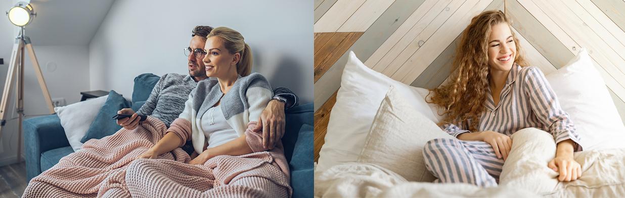 Przegląd modnych i wygodnych piżam idealnych na filmowy wieczór w domu! - Trendy w modzie w Domodi