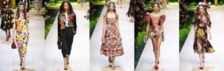 Róże i kwiaty - moda w stylu Dolce & Gabbana