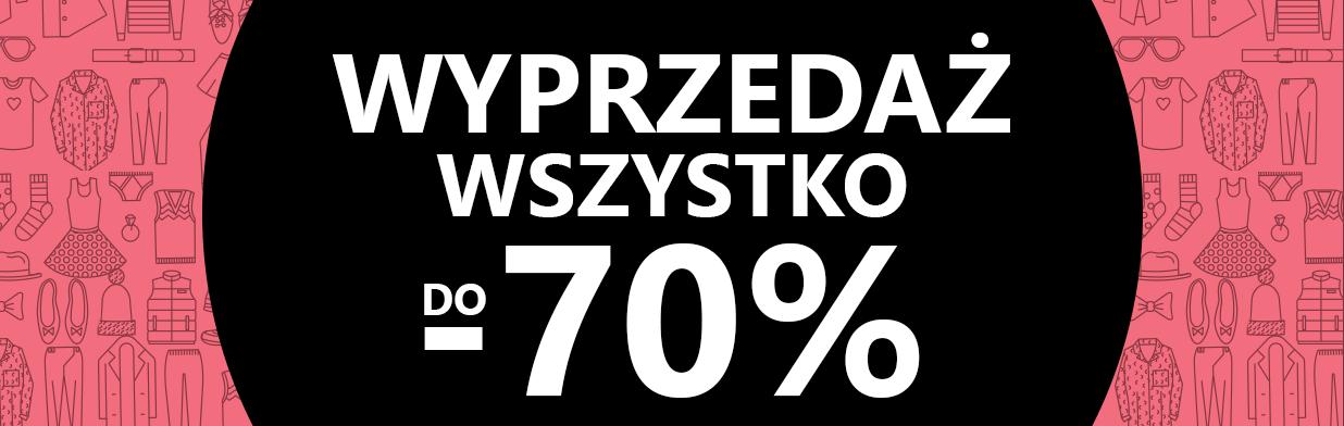 Wyprzedaże do 70%!