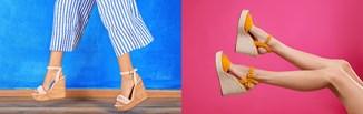 Sandały na koturnie w modnych stylizacjach na lato. Poznaj topowe pomysły na look z koturnami!