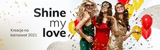 Najmodniejsze sukienki na karnawał 2021. Shine My Love!
