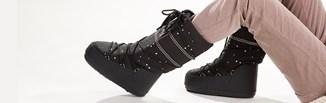 """Śniegowce Moon Boot w stylizacjach z klasą. Jak nosić kultowe """"księżycowe"""" buty damskie?"""