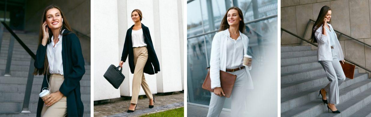 kurtka skórzana damska stylizacje do pracy