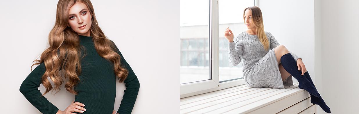 Sukienka sweterkowa na jesień i zimę 2020/2021. Jak nosić dzianinowe sukienki w tym sezonie?