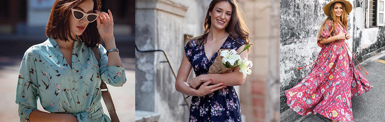 Sukienka w kwiaty - stylizacje na każdą okazję + propozycje modnych dodatków