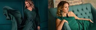Sukienka w odcieniu butelkowej zieleni – najpiękniejsze fasony i stylizacje na różne okazje