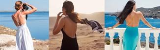 Sukienka z odkrytymi plecami na lato 2020 - modny fason z dekoltem na plecach