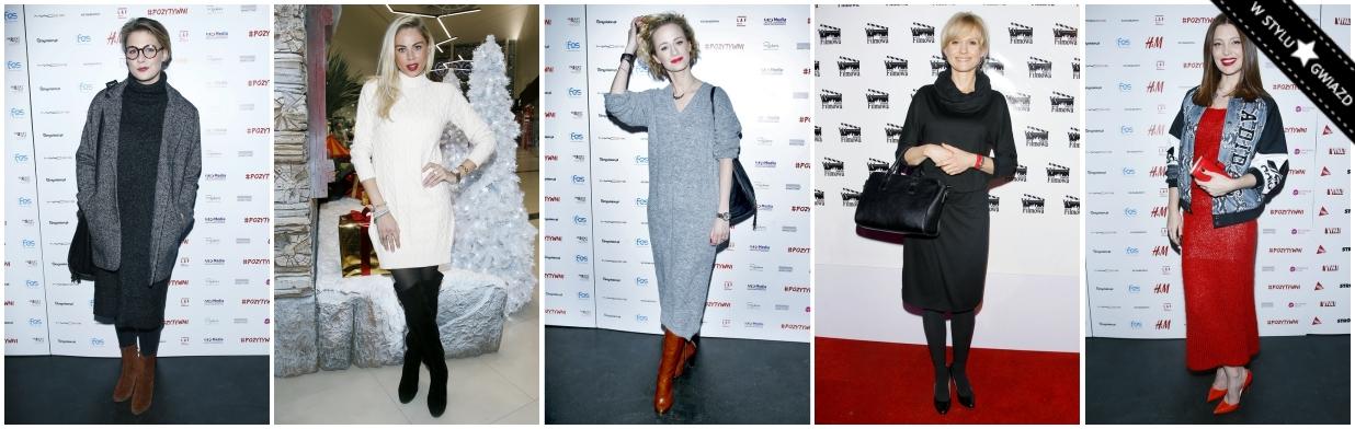 Sukienki na zimę według gwiazd