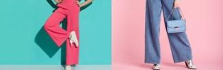 Szerokie spodnie w różnych stylizacjach. Podpowiadamy jak nosić i z czym łączyć ten supermodny krój