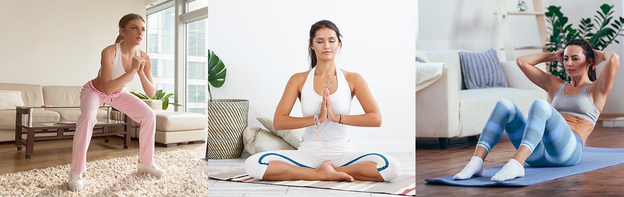 Trening w domu - co ćwiczyć w domowym zaciszu, żeby zadbać o zdrowie i sylwetkę?