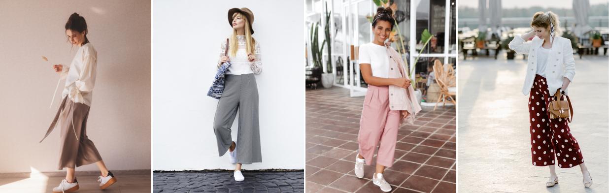 Z czym nosić kuloty? Najmodniejsze stylizacje ze spodniami culottes! -  Trendy w modzie w Domodi