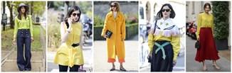 Żółty w wiosennych stylizacjach