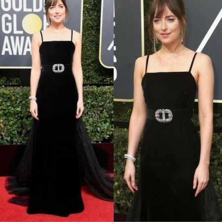 dakota johnson złote globy