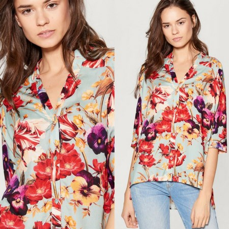 koszula w kwiaty z wyprzedaży