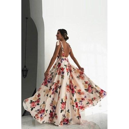 Długa sukienka na poprawiny dla młodej