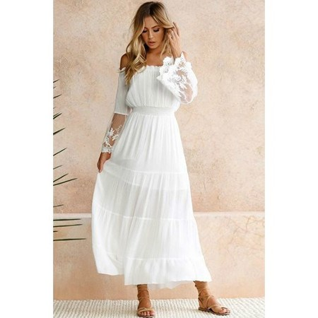 boho sukienka na poprawiny dla młodej