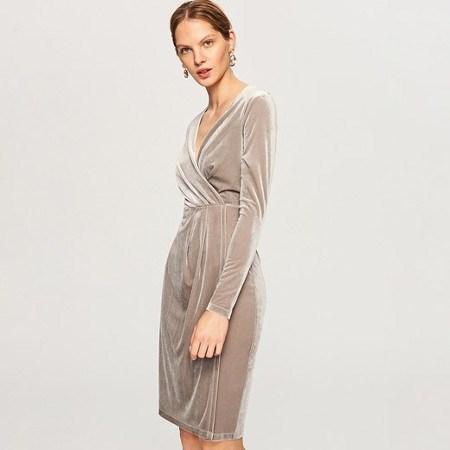 welurowa sukienka na ostatki