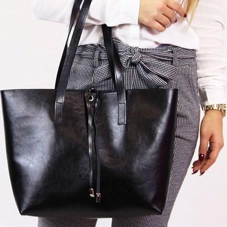 torebka jesienna, czarna shopper bag