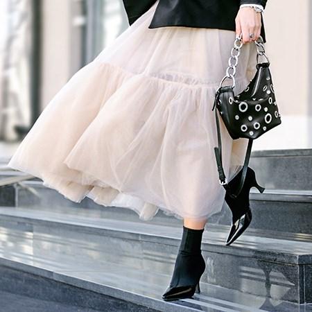 юбка из тюля