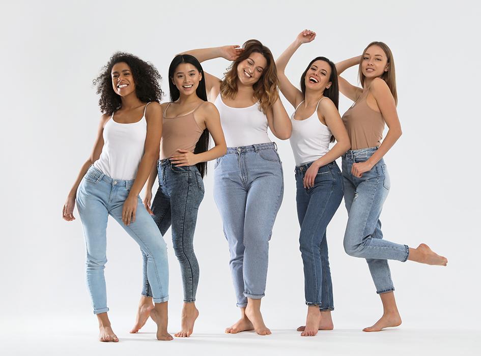 джинсы для разной фигуры